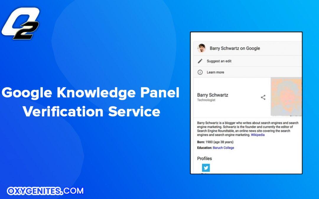 google knowledge panel verification service